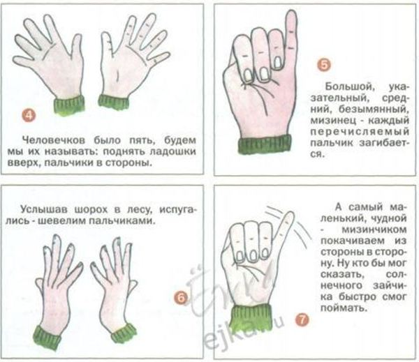 пальчиковые гимнастика в картинках